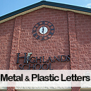 Metal and Plastic letters